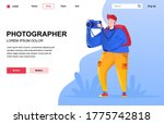 photographer flat landing page...