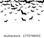 hazardous black bats group... | Shutterstock .eps vector #1775748452