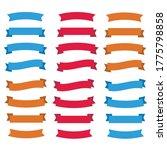 flat vector ribbons banners... | Shutterstock .eps vector #1775798858