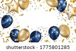 luxury gold and blue foil... | Shutterstock .eps vector #1775801285
