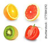 fruits and vegetables  | Shutterstock . vector #177584192