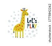 cute giraffe hand drawn...   Shutterstock .eps vector #1775842262