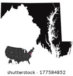 maryland map   | Shutterstock .eps vector #177584852