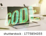 creative code word hologram on...