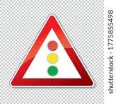 traffic sign traffic lights.... | Shutterstock .eps vector #1775855498