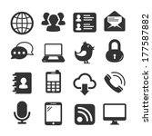 internet icons set | Shutterstock .eps vector #177587882