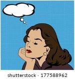 illustration of a thinking... | Shutterstock .eps vector #177588962