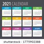 2021 calendar   vector... | Shutterstock .eps vector #1775902388