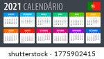 2021 calendar   vector template ... | Shutterstock .eps vector #1775902415