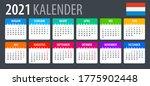 2021 calendar   vector template ... | Shutterstock .eps vector #1775902448