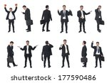 set of business people isolated ... | Shutterstock . vector #177590486