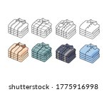 set of folding shirt vector...   Shutterstock .eps vector #1775916998