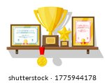 trophy and awards collection on ... | Shutterstock .eps vector #1775944178