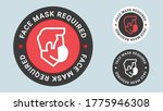 face mask required stamp vector ... | Shutterstock .eps vector #1775946308