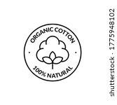 100  natural organic cotton...   Shutterstock .eps vector #1775948102