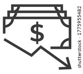 dollar arrow down rate decrease ... | Shutterstock .eps vector #1775955482