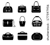 bag set vector | Shutterstock .eps vector #177597956