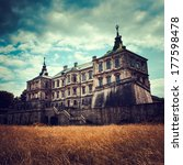 Old Stylized Pidhirtsi Castle ...