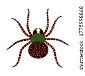 hand drawn large spider... | Shutterstock .eps vector #1775998868