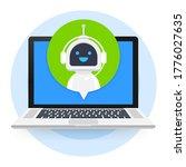 Chat Bot Using Laptop Computer  ...