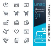 lineo   shopping and e commerce ... | Shutterstock .eps vector #177603512
