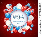 text independence day 4th of...   Shutterstock . vector #1776044402