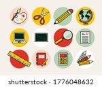 set of school materials icons.... | Shutterstock .eps vector #1776048632