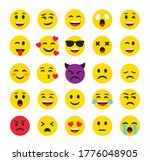 high quality emoticons isolated ... | Shutterstock .eps vector #1776048905