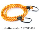 black hook with elastic rope on ... | Shutterstock . vector #177605435