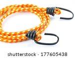 black hook with elastic rope on ... | Shutterstock . vector #177605438