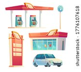 gas station refueling service... | Shutterstock .eps vector #1776107618