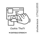 Cookie Theft Icon. Hacker Using ...