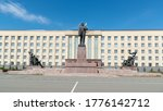 lenin square in the city of... | Shutterstock . vector #1776142712