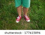legs men dressed in red... | Shutterstock . vector #177615896