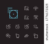 clothes icons set. do not wash...
