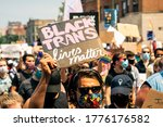 Small photo of Chicago, USA-June 28, 2020: A grassroots march for Gay Pride with emphasis on Black Lives and Trans Lives. Organized by Brave Space Alliance, The National Trans March, Gay Liberation Network, CAARPR