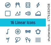 audio icon set and stop with...