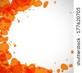 abstraction of the orange drops ...   Shutterstock . vector #177620705