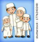 muslim family member on cartoon ...   Shutterstock .eps vector #1776240248
