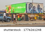 African Street With People ...