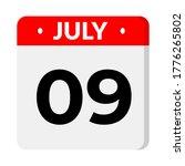 july 9  calendar icon. calendar ... | Shutterstock .eps vector #1776265802