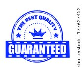 guaranteed grunge stamp whit on ... | Shutterstock .eps vector #177627452