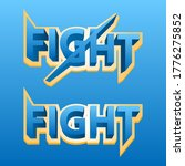 3d text fight perfect for game...