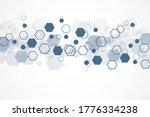 hexagonal abstract background....   Shutterstock . vector #1776334238