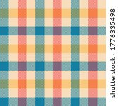 Gingham Pattern Vector In Blue  ...