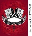 grunge music background | Shutterstock .eps vector #177636692