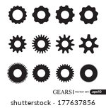 gear icons design elements.... | Shutterstock .eps vector #177637856