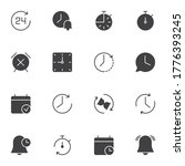 time related vector icons set ...