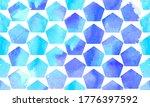 morrocan ornament of blue... | Shutterstock .eps vector #1776397592