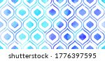 morrocan ornament of blue... | Shutterstock .eps vector #1776397595